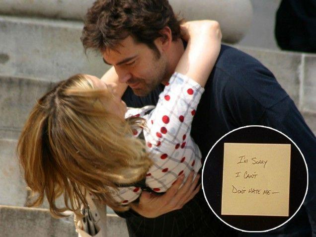 Jack Berger, Carrie Bradshaw e il post-it in Sex and the City