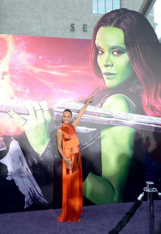 Zoe Saldana è Gamora in Guardiani della Galassia Vol. 2