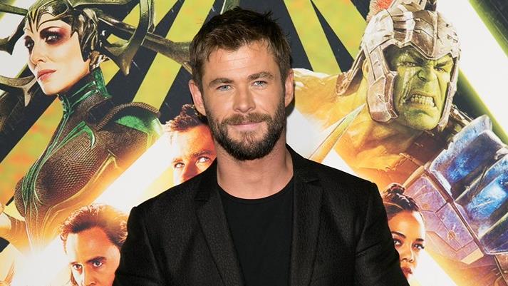 Chris Hemsworth alla prima di Thor: Ragnarok