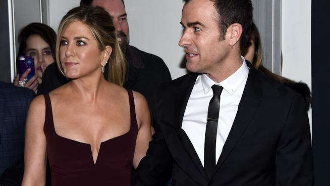 Jennifer Aniston e il marito Justin Theroux