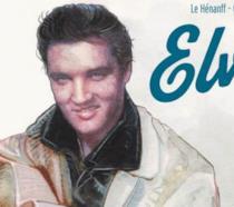 La cover del fumetto biografico su Elvis