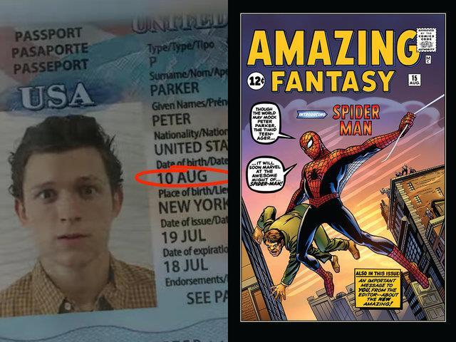 Il passaporto di Peter Parker nel MCU e la copertina di Amazing Fantasy #15