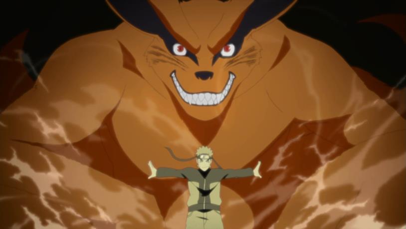 Naruto e Volpe a nove code
