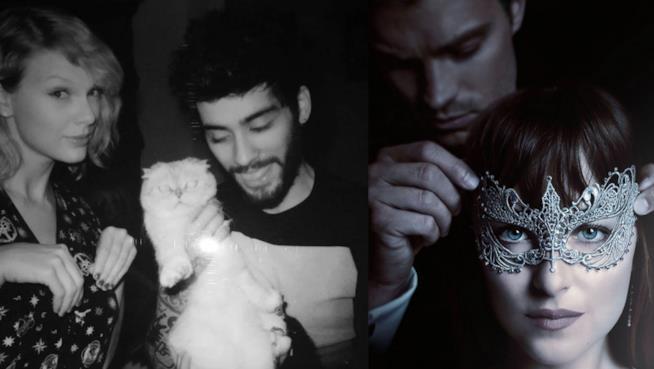 50 Sfumature di Nero: Zayn e Taylor Swift con i protagonisti