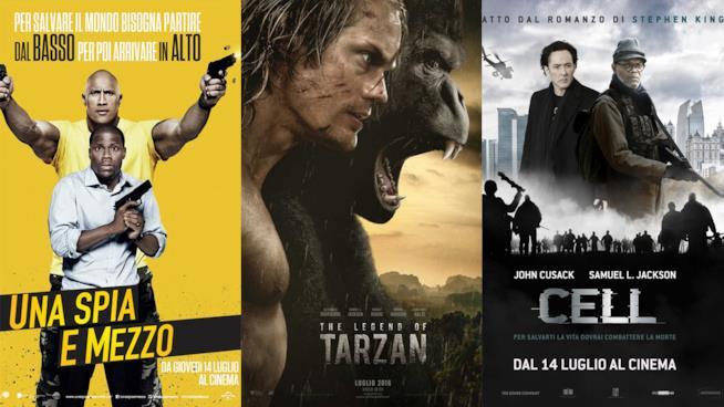 I poster di The Legends of Tarzan, Una Spia e Mezzo e Cell