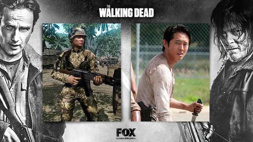 """Steven Yeun (Glenn): prima di TWD ha fatto molti piccoli ruoli e ha doppiato due personaggi del videogame """"Crysis""""."""