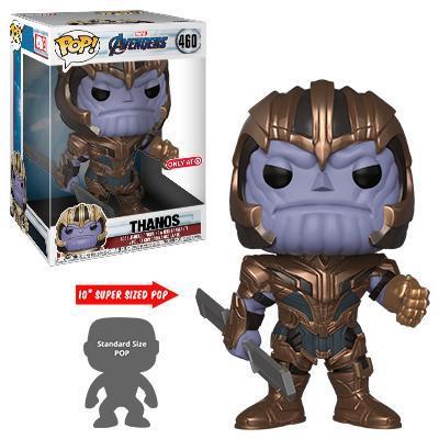 Thanos in armatura con lo spadone in mano pronto a sfidare gli Avengers