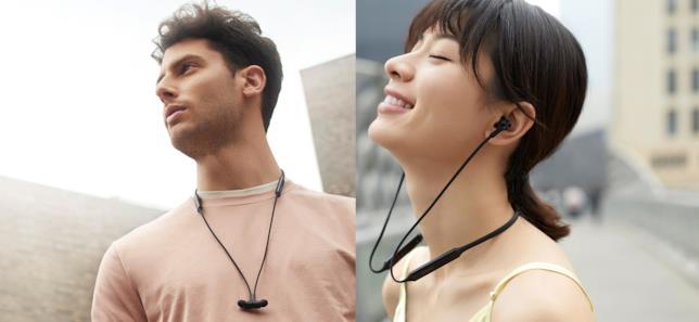 Foto promozionali delle cuffie Huawei FreeLace