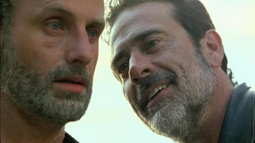 Rick e Negan in The Walking Dead