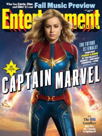 Brie Larson sulla cover di EW dedicata a Captain Marvel