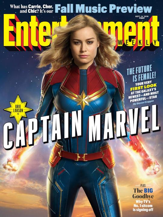 La cover di EW dedicata a Captain Marvel