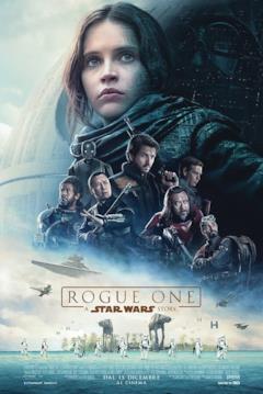 Poster italiano di Rogue One: A Star Wars Story coi personaggi principali