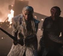 Emilia Clarke e Iain Glen in Game of Thrones 8x03