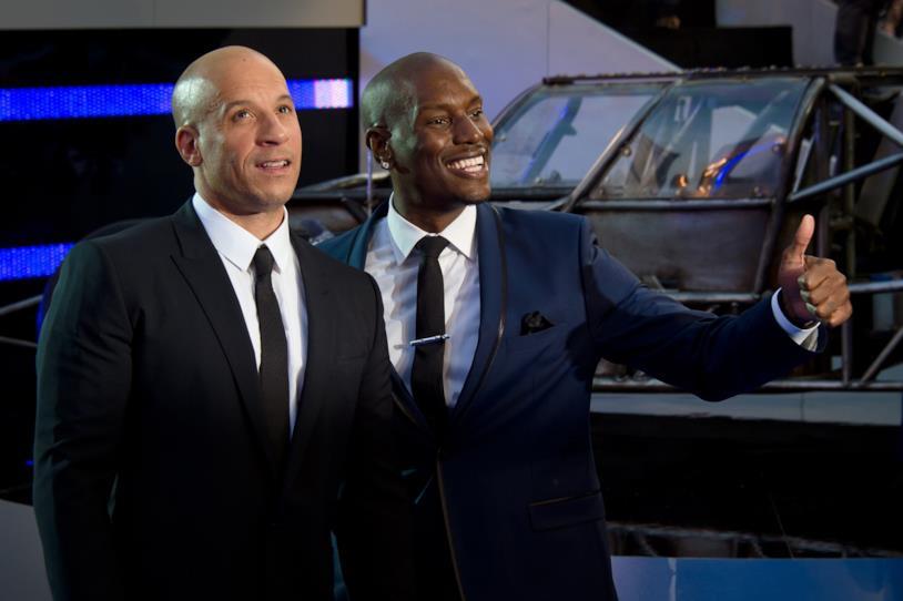 Vin Diesel insieme a Tyrese Gibson