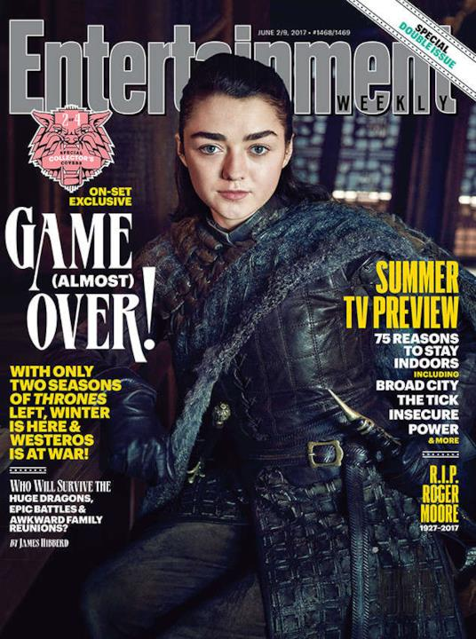 Arya Stark interpretata da Maisie Williams per la copertina di EW