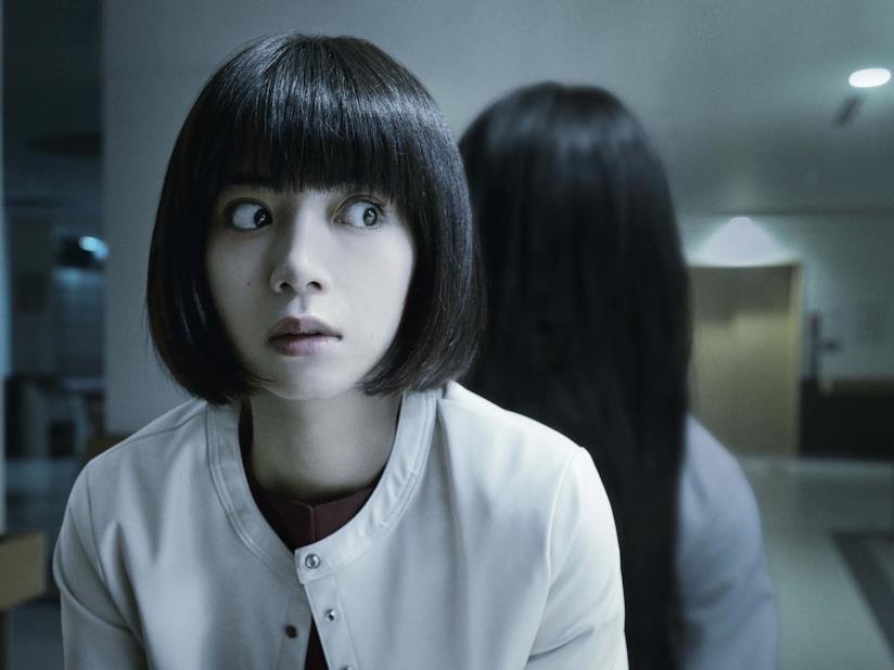 Un'inquietante scena del film Sadako