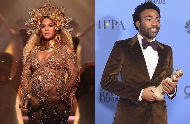 Beyoncé e Donald Glover in un collage