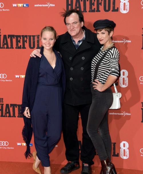 Quentin Tarantino alla prima di The Hateful Eight