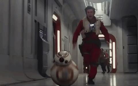 Poe Dameron corre nel trailer di Star Wars 8