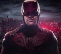 Un primo piano di Daredevil nella serie Marvel/Netflix