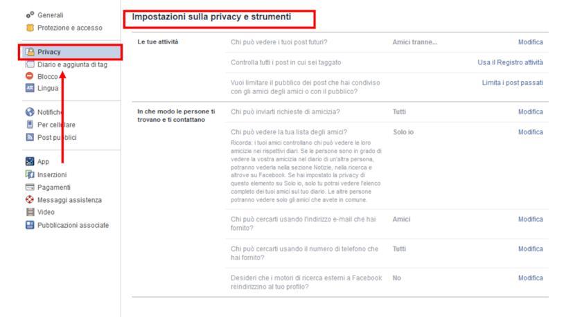Come accedere alle impostazioni di privacy del proprio account Facebook