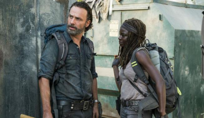 Rick e Michonne nell'ultimo episodio di The Walking Dead