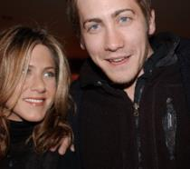 Primo piano di Jake Gyllenhaal e Jennifer Aniston
