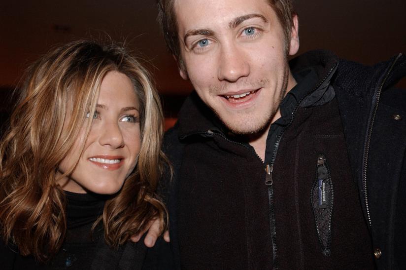 Primo piano di Jake Gyllenhaal e Jennifer Aniston