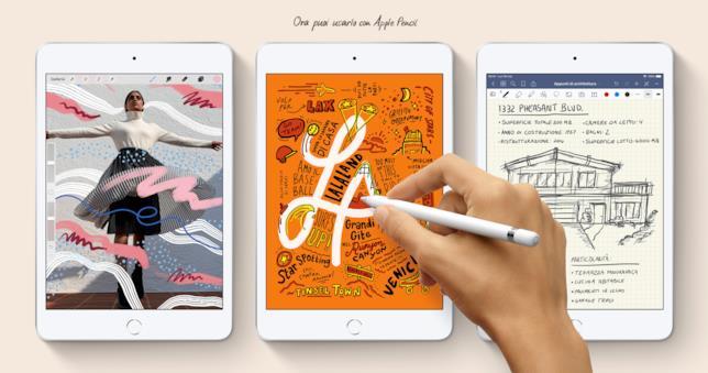 Immagine stampa del nuovo iPad mini