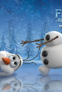 Olaf nel character banner di Frozen
