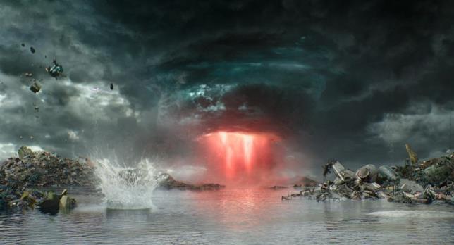 Una immagine del film che mostra l'Ano del Diavolo nel film Thor: Ragnarok