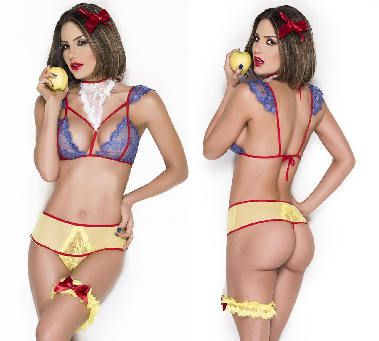 Il completo lingerie ispirato a Biancaneve