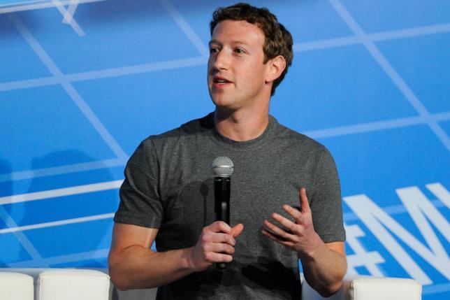 Mark Zuckerberg durante un keynote dedicato a Facebook