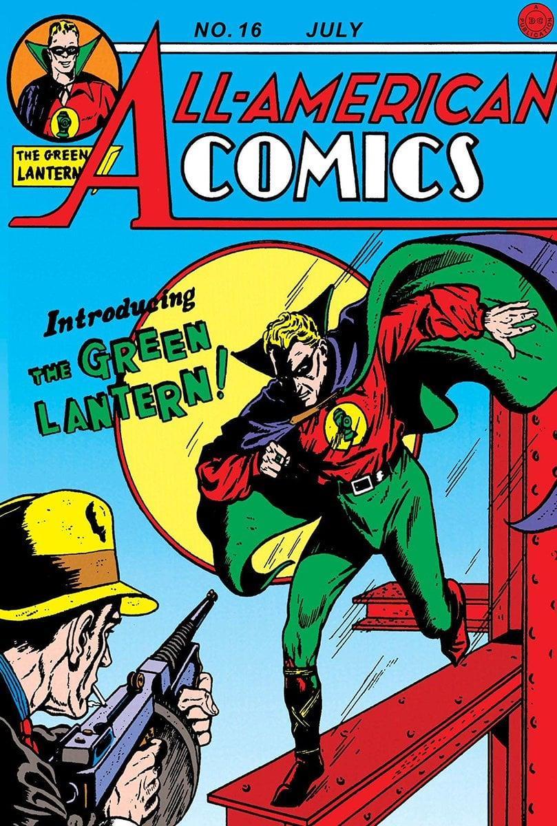 Lanterna Verde affronta un criminale nella cover del fumetto