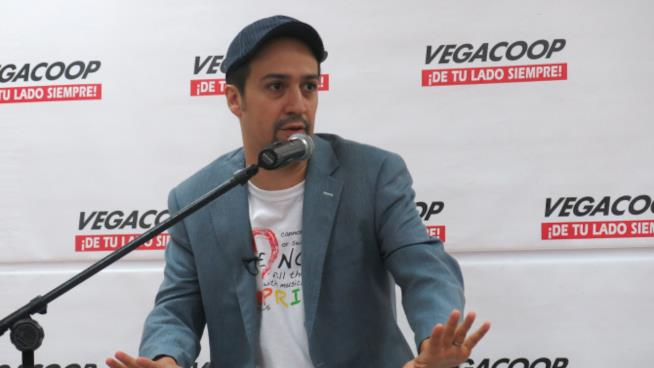 Lin-Manuel Miranda in conferenza