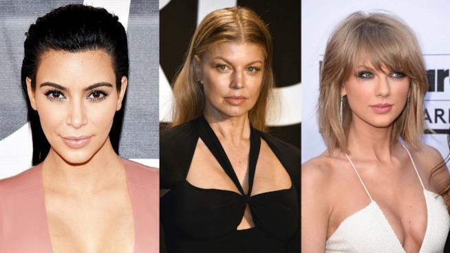 Primo piano di Kim Kardashian, Taylor Swift e Fergie