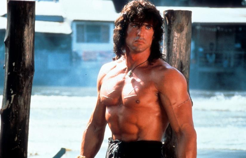 Sly in una scena di Rambo III