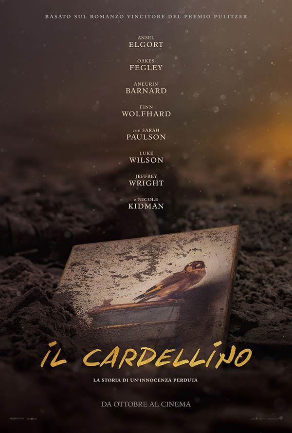 Il poster de Il Cardellino, film tratto dall'omonimo romanzo di Donna Tartt