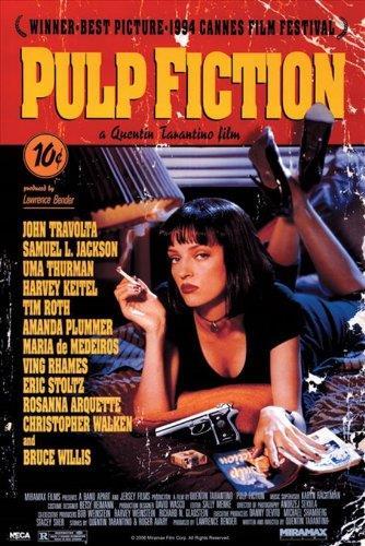 Pulp fiction, poster vintage
