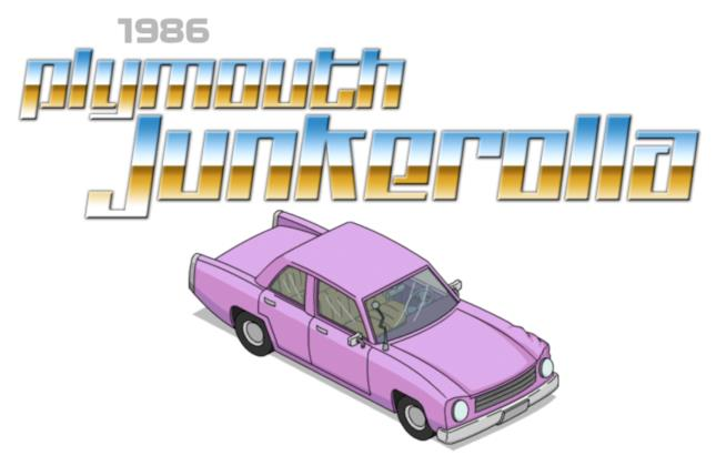 La Plymouth Junkerolla del 1986 è l'auto di Homer Simpson