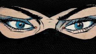 Gli occhi del Re del Terrore brillano sulla locandina di Diabolik sono io