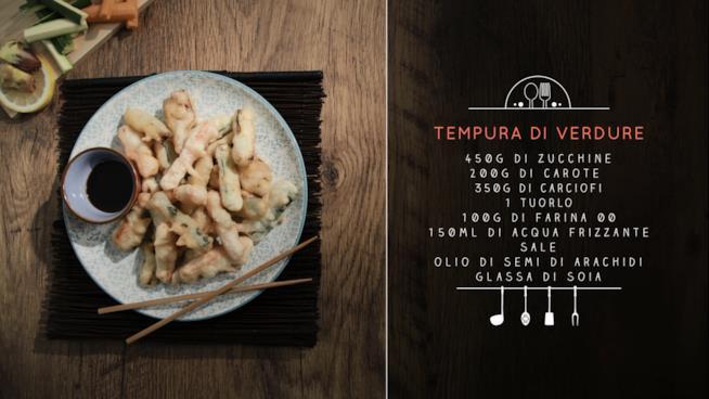 La ricetta della tempura di verdure