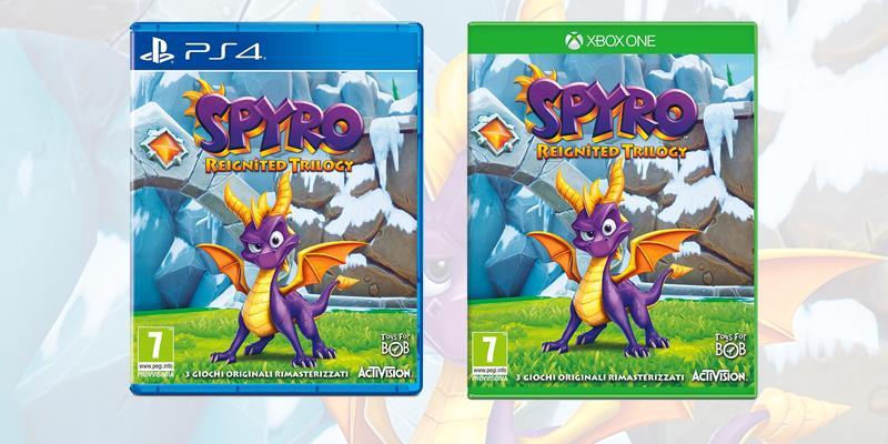 Le boxart di Spyro: Reignited Trilogy, ora in uscita a novembre