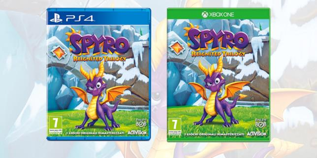 Le boxart di Spyro: Reignited Trilogy