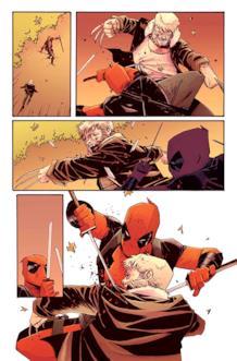 Deadpool combatte contro il vecchio Logan in una pagina di anteprima