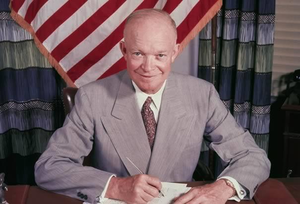L'ex presidente degli Stati Uniti Dwight D. Eisenhower
