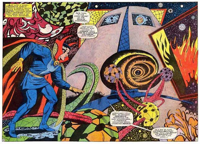 Una tavola di Doctor Strange a opera di Dikto