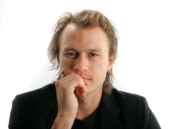 Heath Ledger in primo piano