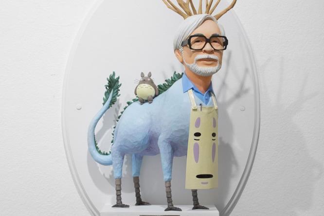 La statuetta di Hayao Miyazaki