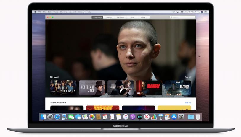 Immagine stampa della nuova applicazione Apple TV di macOS Catalina